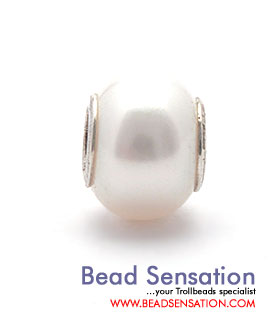 Trollbeads Limited Edition 30th Anniversary Bracelet - White Pearl