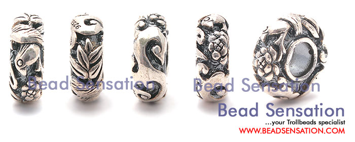 Trollbeads Limited Edition China Silver Bird and Flower