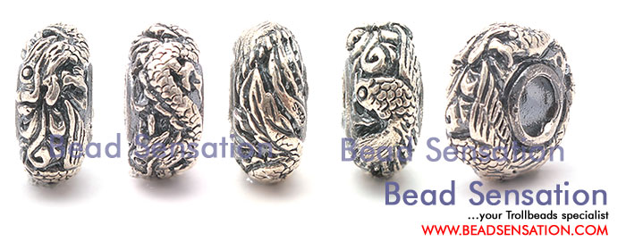 Trollbeads Limited Edition China Silver Dragon and Phoenix
