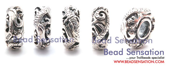 Trollbeads Limited Edition China Silver Dragon