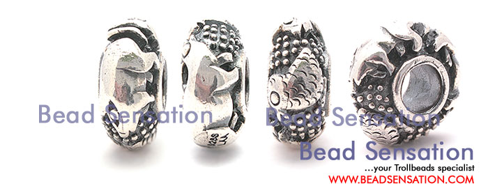 Trollbeads Limited Edition China Silver Pig Check and Badger