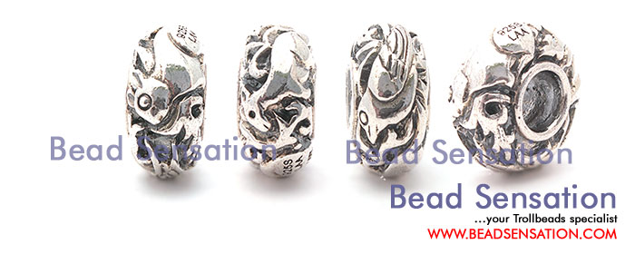 Trollbeads Limited Edition China Silver Rabbit Bird Deer