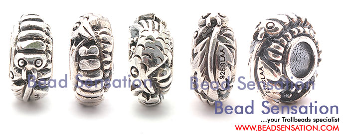 Trollbeads Limited Edition China Silver Silkworm