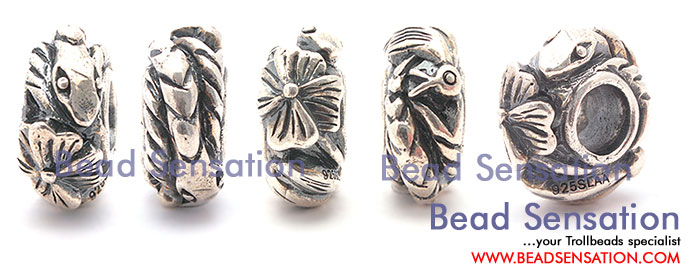 Trollbeads Limited Edition China Silver White Snake