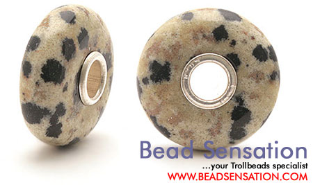 Trollbeads Limited Edition Gemstone Dalmation Jasper