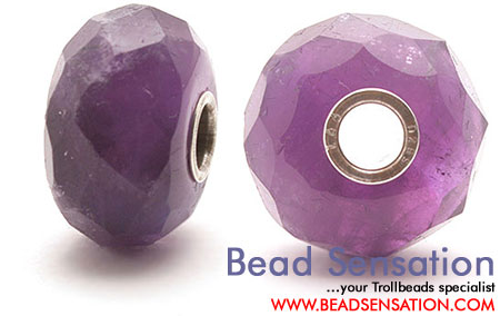 Trollbeads Limted Edition Gemstone Faceted Amethyst