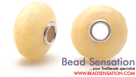 Trollbeads Limited Edition Gemstone Faceted Honey Jade
