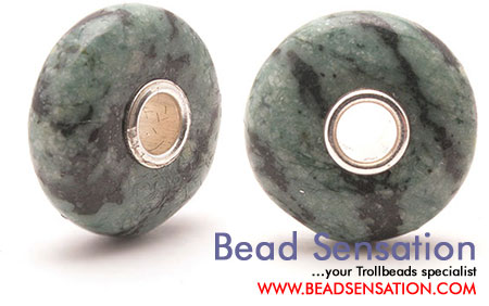 Trollbeads Limited Edition Gemstone Green Zebra Jasper