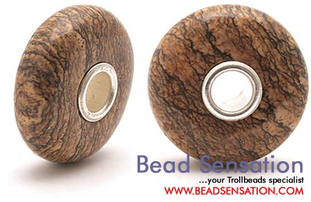 Trollbeads Limited Edition Gemstone - Picture Jasper