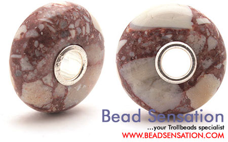 Trollbeads Limited Edition Gemstone - Pink Brecciated Jasper